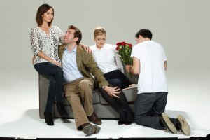 L-R Natalie Imbruglia, Edward Bennett, Claire Price, Simon Gregr - Things We Do For Love