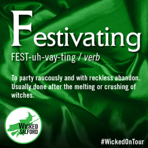 Picture of a word Festivating