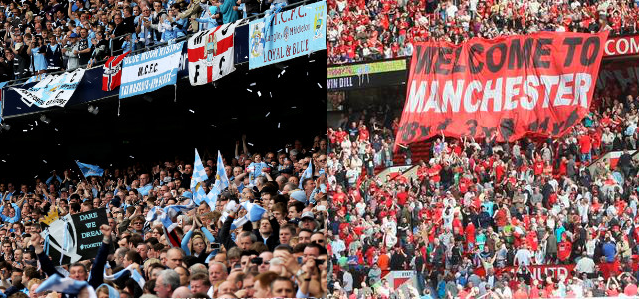 Manchester City & Manchester United Fans