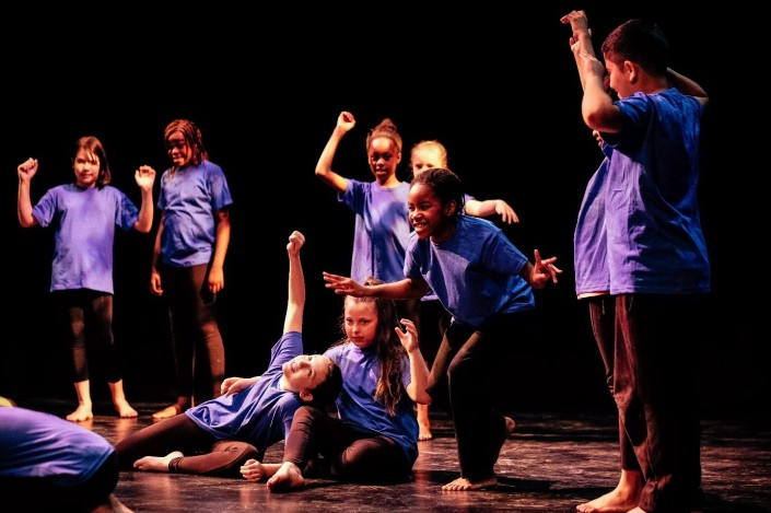 Children from St Pauls CE Primary School performing in Children's Shakespeare Festival at The Lowry