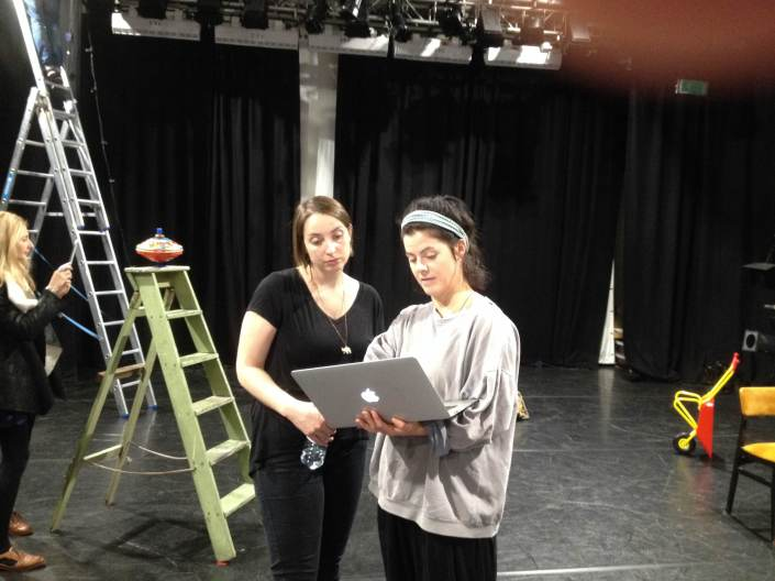 Artist Laura Lindow and Producer Jo Mackie
