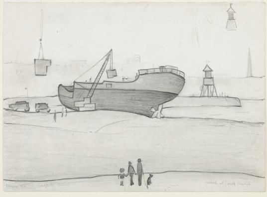 LS Lowry - South Shields Sketch - 1963