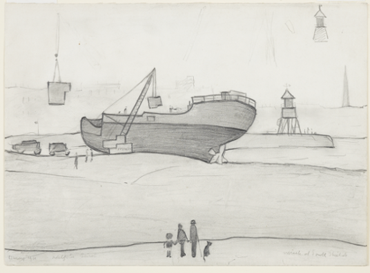 LS Lowry - South Shields Sketch - 1963