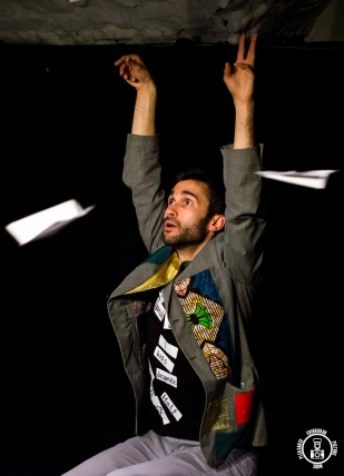 Labels in Bunker 1 at Pleasance Courtyard 2015