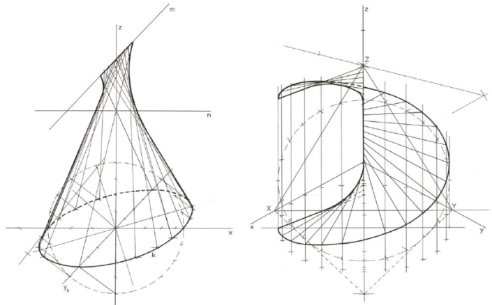 Figure-3-Examples-of-hand-drawings-a-parallel-projection-of-ruled-surfaces