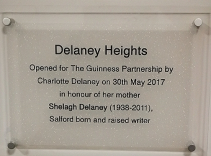 Delaney Heights Plaque May 2017