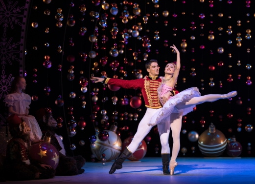 Bethany Kingsley-Garner as the Sugar Plum Fairy and Evan Loudon as the Prince in Peter Darrell's The Nutcracker. Photo by Andy Ross