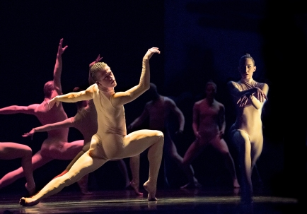 Dancers Scott Fowler, Kirsten Wicklund and Artists of Ballet BC in Bill. Photo by Chris Randle.