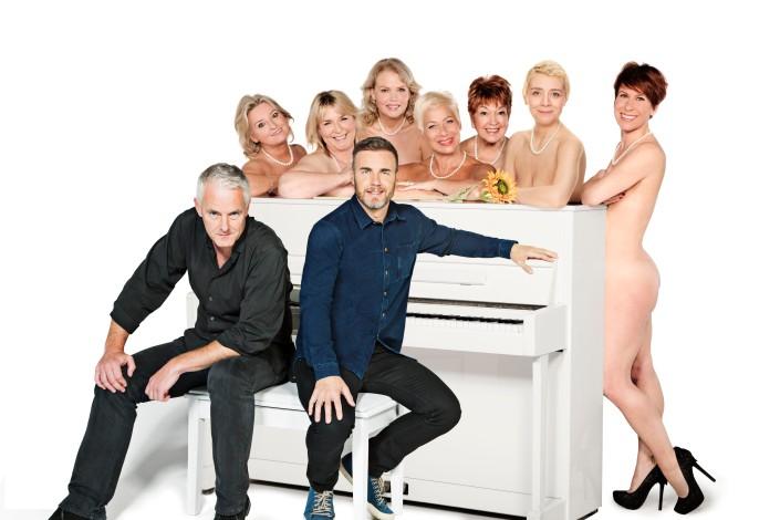 Front Tim Firth, Gary Barlow, Back Rebecca Storm, Fern Britton, Sara Crowe, Denise Welch, Ruth Madoc, Karen Dunbar, Anna-Jane Casey
