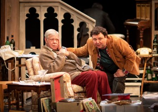 Matthew Kelly & John Wark in THE HABIT OF ART (c) Helen Maybanks