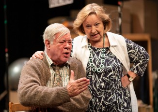 Matthew Kelly & Veronica Roberts in THE HABIT OF ART (c) Helen Maybanks
